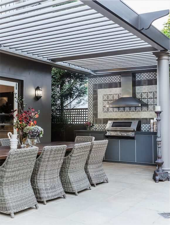 scaled tiles Bellevue Hill Outdoor living