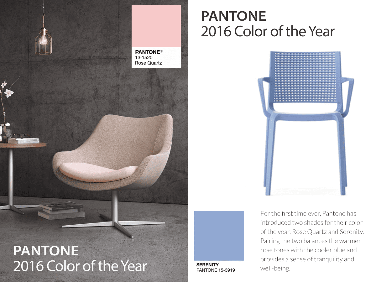 Rose quartz serenity pantone colours of the year 2016 for Color of the year 2016
