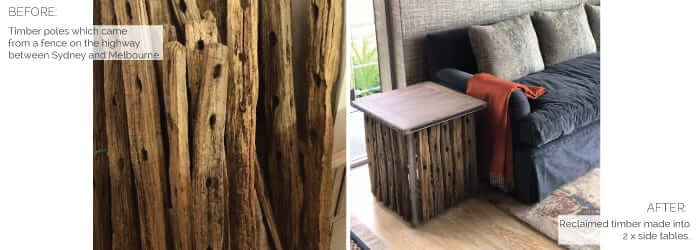 reclaimed wood made into table