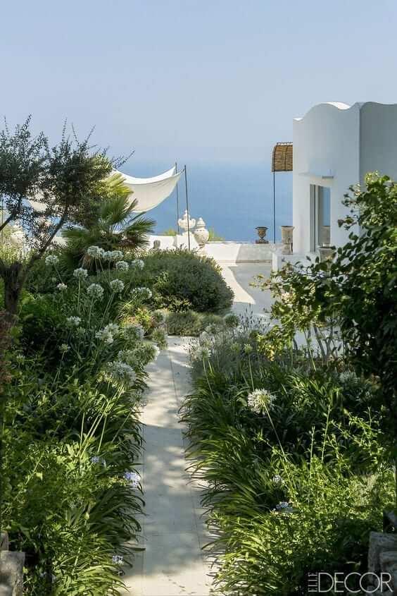 Island of Capri coastal home sophisticated seaside coastal interior