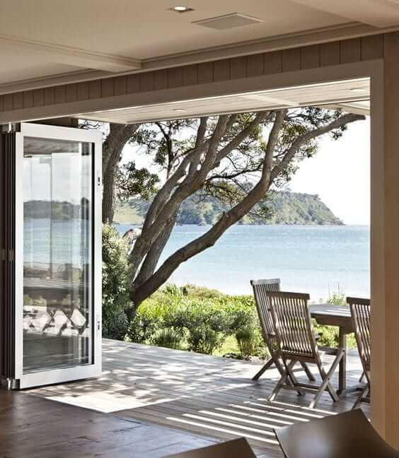 large sliding doors for a sophisticated coastal interior