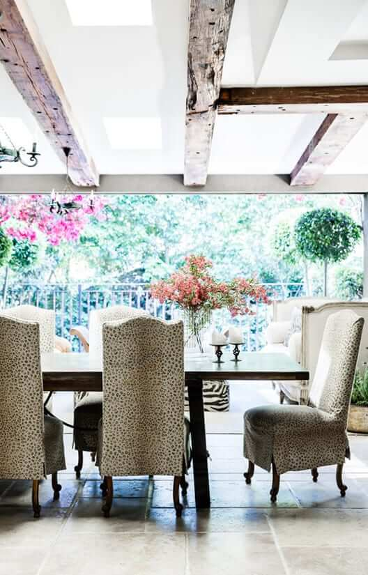 Combination of materials for Boronia House's outdoor entertaining area
