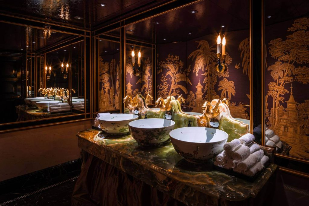 The powder room in Park Chinois London