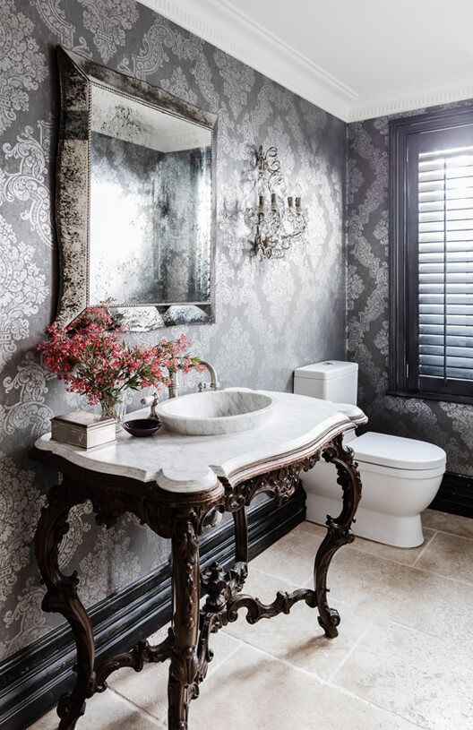 powder room wow factor