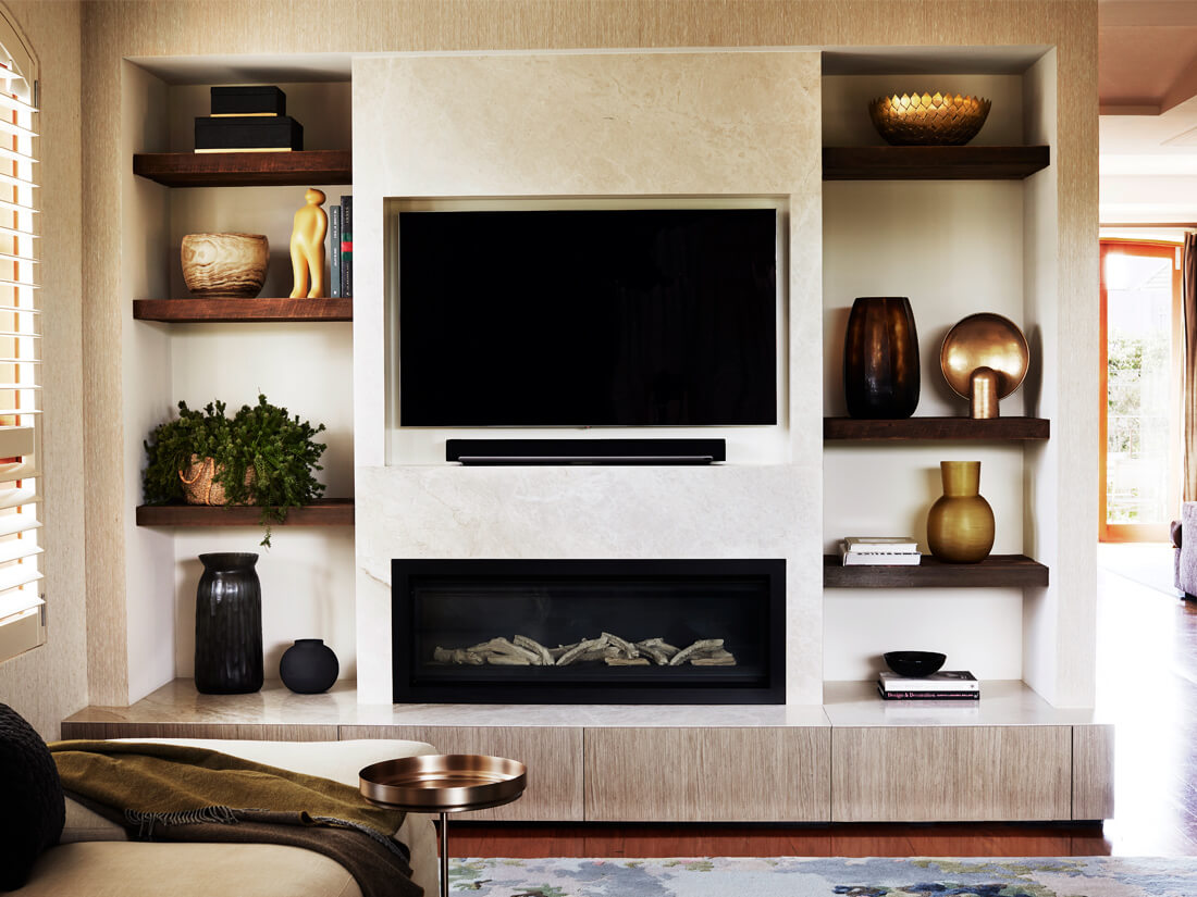 the art of styling shelves